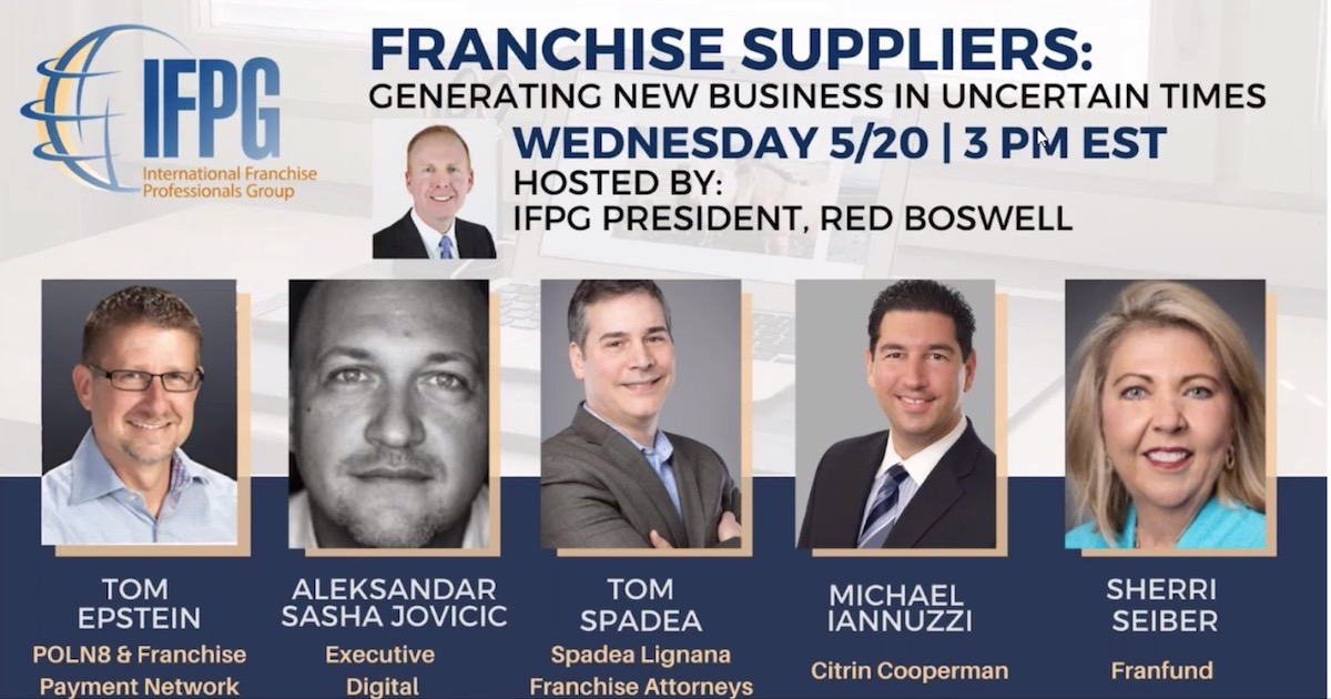 Franchise Suppliers: Generating New Business in Uncertain Times