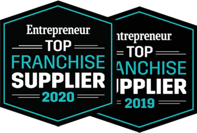 Entrepreneur Top Franchise Supplier Award Badges