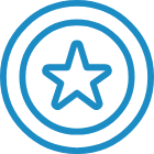 Star in circle icon