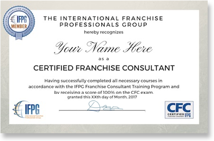 Certified Franchise Consultant Certificate