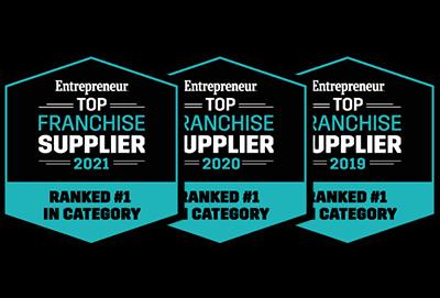 Entrepreneur Top Franchise Supplier Award Badges